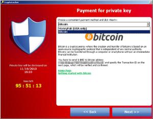 Captura: Cryptolocker en España