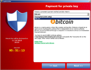 Captura: Cryptolocker en España