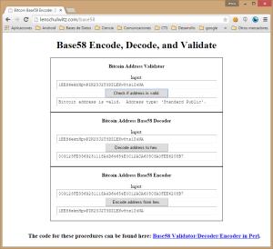 Captura: Validación de dirección de bitcoin