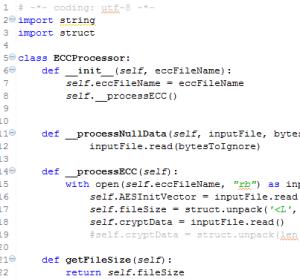 Captura: Muestra parcial del código python