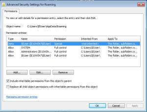 Captura: Configuración Avanzada de Carpetas Microsoft