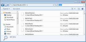 Captura: Captura parcial de ficheros trampa cifrados