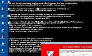 Captura: Fondo de pantalla de Cryptolocker