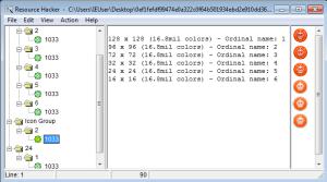 Captura: Información obtenida con Resource Hacker