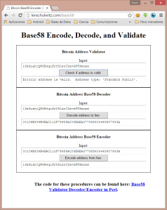 Captura: Validación de dirección bitcoin incluida en key.dat