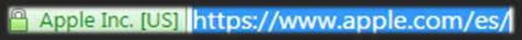 """Captura: Ejemplo de """"https"""" y mira por dónde se llevan publicidad los de Cupertino."""