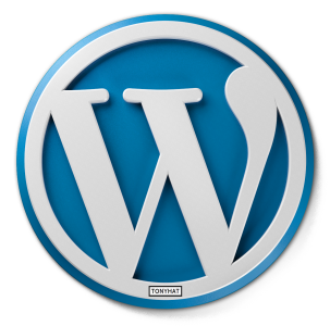 "Captura: Logotipo ""Wordpress""."