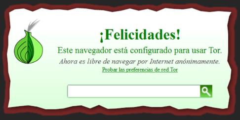 "Captura: Navegador ""Tor"" (basado en ""Firefox"") listo para surcar la ""Deep Web"", etc."