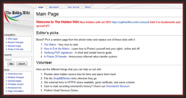 """Captura: """"The Hidden Wiki"""", un lugar dónde encontrar todo tipo de """"links"""" de la """"Deep Web"""" actualizados, etc."""