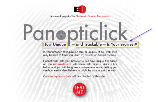 Captura: Panopticlick, un experimento de la EFF (Electronic Frontier Foundation) para saber qué tan efectivo es ese tipo de rastreo en línea.