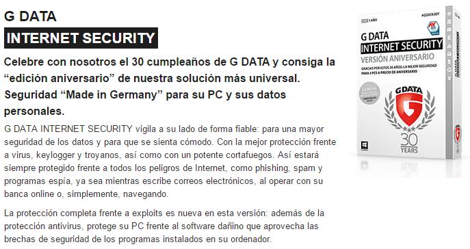 Captura: G Data.