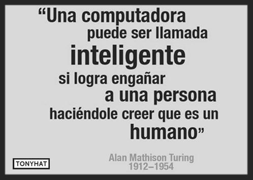 """Captura: Frase de """"Alan Mathison Turing""""."""