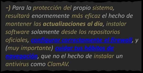 Básicos 14, Antivirus linux, BLOG - 12