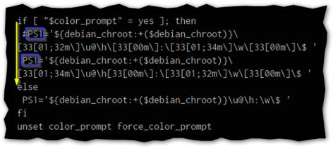 """Captura: Ejemplo de combinaciones de """"parámetros y colores""""."""