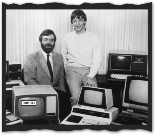 "Captura: Microsoft Archives (observad a un joven ""Bill Gates"") :)"
