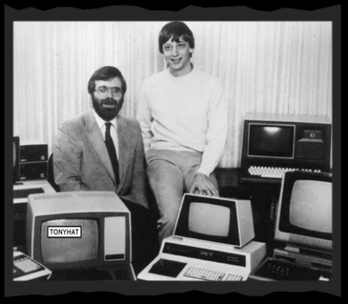 """Captura: Microsoft Archives (observad a un joven """"Bill Gates"""") :)"""