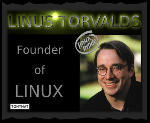 """Captura: Linus Benedict Torvalds (ingeniero de software finlandés estadounidense) conocido por iniciar y mantener el desarrollo del """"kernel"""" (en español, núcleo) Linux, basándose en el sistema operativo libre Minix creado por Andrew S. Tanenbaum :)"""