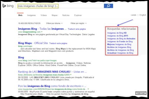 Captura 9: Al buscar con Bing!, a la derecha nos ofrece