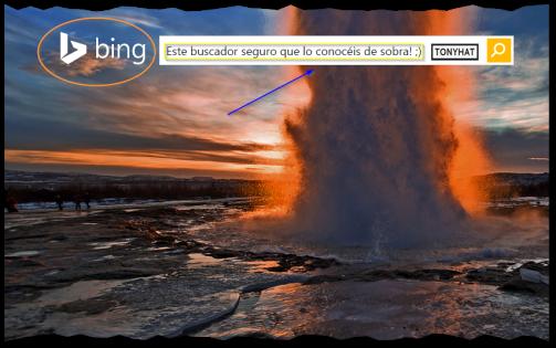 Captura: Bing (anteriormente Live Search, Windows Live Search y MSN Search) ;)