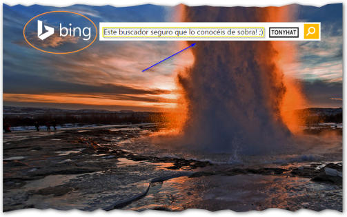 Captura: Bing (anteriormente Live Search, Windows Live Search y MSN Search) ;)