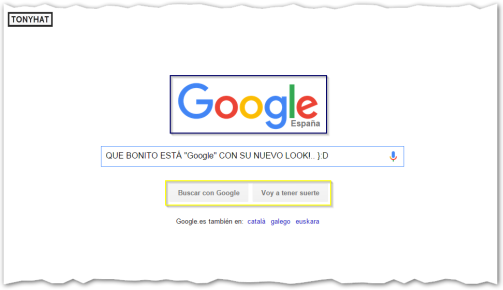 Captura: Google (new look!) :)