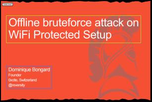 Captura 4: Offline bruteforce attack on Wifi protected setup }:D