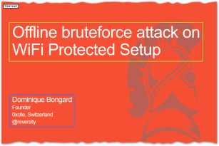 Captura 4: Offline bruteforce attack on Wifi protected setup }:D