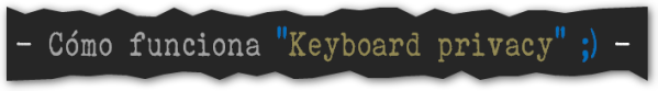 Keyboard privacy, Chrome, BLOG - 015
