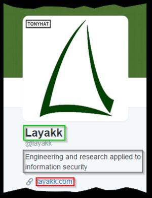 Captura 5: Twitter de Layakk ;)