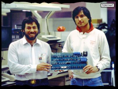 Captura: Stephen Wozniak (ingeniero, filántropo, inventor) junto a Steve Jobs ;)