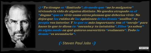 Captura: Steven Paul Jobs (Empresario) – [co-fundador de Apple y co-fundador de Pixar)