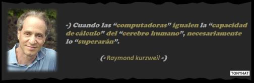 Captura: Raymond Kurzweil (Inteligencia Artificial, Filosofía, Futurología y Tecnología) :)